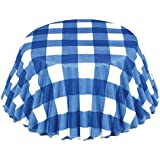 Fox Run Blue Gingham Baking Cups, 50-Count