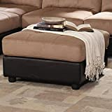 Amazon Com Sectional Sofa With Button Tufted Design Brown