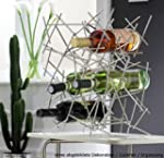 Designer-Weinregal aus Edelstahl, fr...
