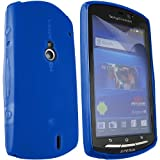ONX3 Sony Ericsson Xperia Neo Blue Gel Skin Case + LCD Screen Protector Guard