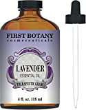 First Botany Cosmeceuticals Lavender Essential Oil with a Glass Dropper, 4 oz