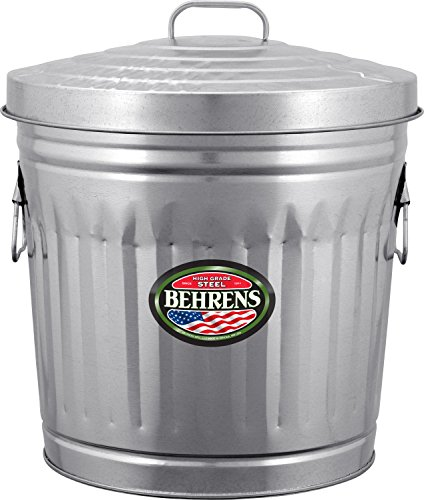 Behrens Manufacturing 6210 Galvanized Steel Trash Can, 10 gal (10 Gallon Galvanized Trash Can compare prices)