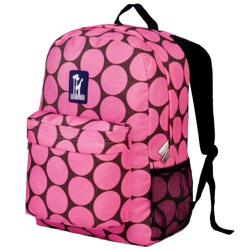 Wildkin Big Dots Crackerjack Backpack, Pink