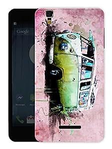 "Humor Gang Mini Travel Van Printed Designer Mobile Back Cover For ""Yu Yureka Plus"" (3D, Matte, Premium Quality Snap On Case)"