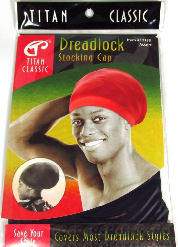 Titan Classic Dreadlock Stocking Cap #22135 (Navy), Expandable, breathable, stretchable, comfortable fabric, fabric, covers hair style (Dreadlock Stocking Cap compare prices)