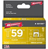 Arrow 591189 Genuine T59 Insulated Clear 5/16-Inch by 5/16-Inch Staples, 300-Pack