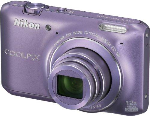 Nikon COOLPIX S6400 Compact Digital Camera - Purple (16MP, 12x Optical Zoom) 3 inch LCD
