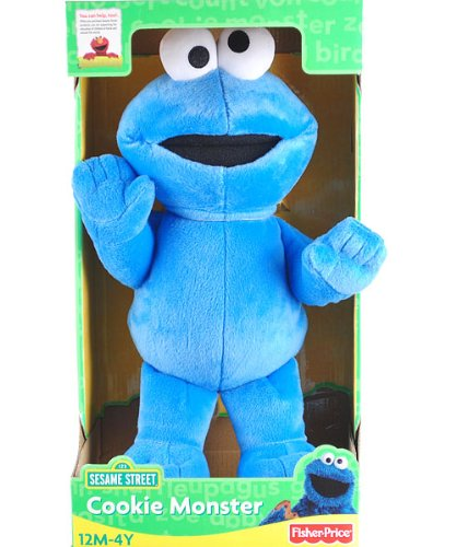 "15"" Sesame Street Cookie Monster Doll Plush front-929088"