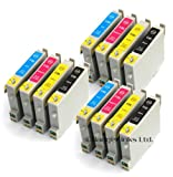 Epson Stylus Photo R240 x12 Compatible Printer Ink Cartridges