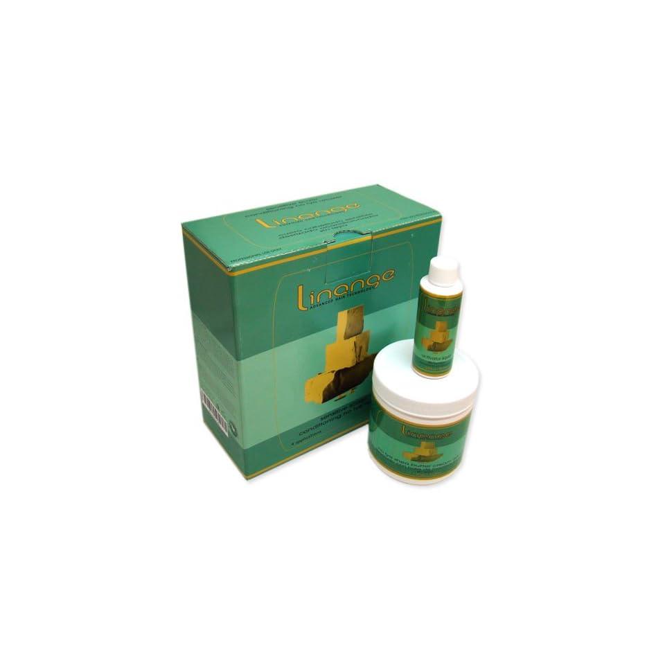 Linange No Lye Shea Butter Cream Relaxer Kit Sensitive Scalp Formula 4 Applications Kit Sale