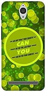 The Racoon Grip Your Country hard plastic printed back case/cover for Asus Zenfone C ZC451CG