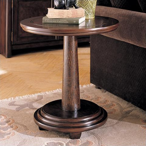 Cheap Hammary Magellan Round Pedestal End Table – T83218-00 (T83218-00)