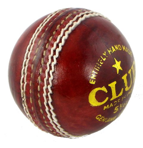 Upfront Qvu Club Match Leather Cricket Ball - MENS 5.5oz. Hand made 4 piece cricket balls.