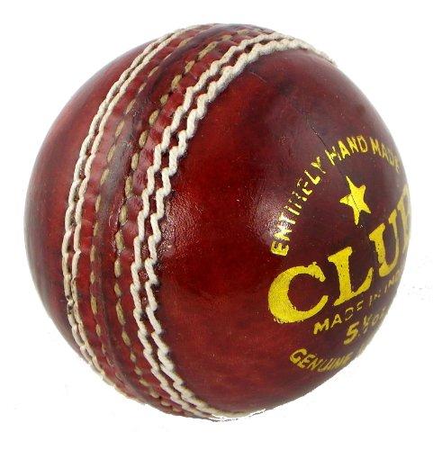 Upfront Qvu Club Match Leather Cricket Ball - MENS 5.5oz. Hand made 4 piece cricket balls.