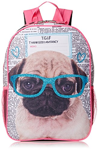 Accessories 22 Girls' Real Pug Photo Fashion Backpack - 1