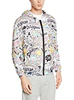 Mr. Gugu & Miss Go Sudadera con Cierre Unisex Head Of Artist (Blanco / Multicolor)