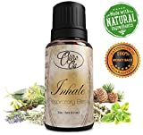 SINUS RELIEF Through the ESSENTIAL OILS BLEND Contained in Inhale Respiratory Blend - Can Be Used as a Home Remedy to help relieve symptoms of Cold, Flu, Asthma, Allergies, Pneumonia and More - Also Excellent for Massage Oil, Relaxation and Breathing Ingredients include Eucalyptus, Peppermint, Lavender, Rosemary, Cedarwood and Clary Sage. 100% Money Back Satisfaction Guarantee!