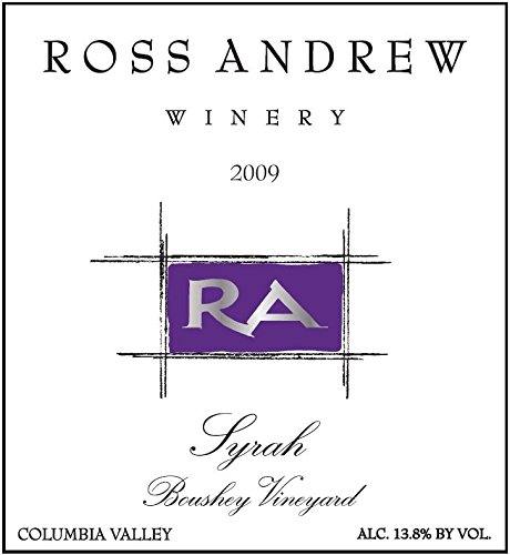 2009 Ross Andrew Winery Boushey Vineyard Syrah, Colubmia Valley 750Ml