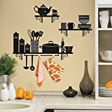 RoomMates Build a Kitchen Shelf Peel and Stick Giant Wall Decals