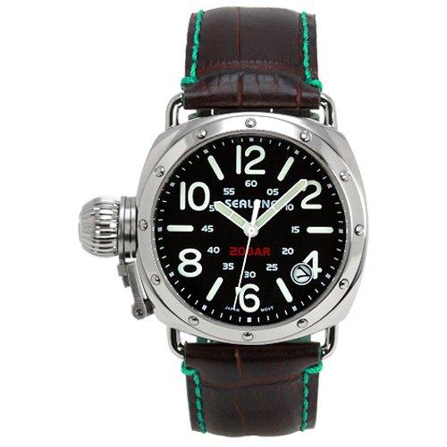 [シーレーン]SEALANE 腕時計 20BAR 牛本革型押しストラップ SE36-LGR メンズ