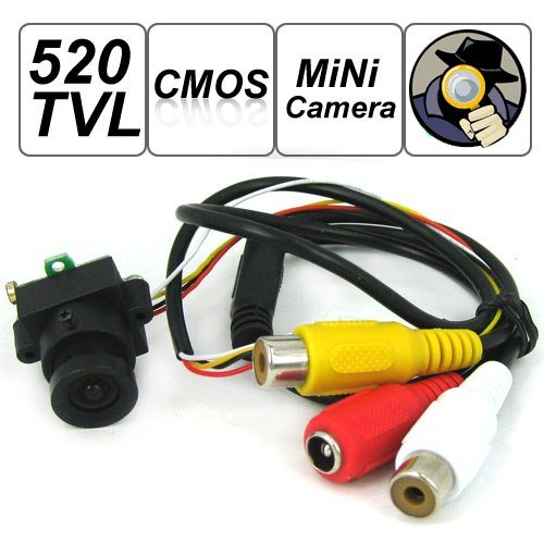 SecurityIng - 520 TV Lines MC495 1/3 Inch CMOS Image Sensor Mini Covert Color CCTV Surveillance Security Camera, 3.6mm F2.0/90 Degrees View Angle Lens, Support Video and Audio Output, for Hidden Audio
