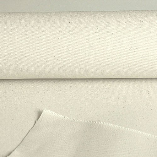 Segeltuch / Zelt-Stoff WASSERDICHT - 205 cm breit - 100% Baumwolle Meterware (Natur-Weiß)