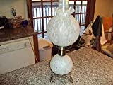 GWTW STYLE HURRICANE WHITE FROSTED PARLOR ART GLASS LAMP