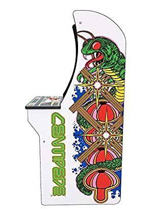 Arcade 1Up Centipede Classic 80s Arcade Game Cabinet for Kids and Adults 3/4 Scale Coinless Operation 4 Games in 1 Centipede Millipede Missile Command & Crystal Castles (Color: Multicolored)