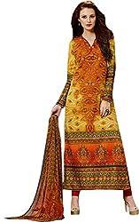 Begum Riwaaz Women's Georgette Unstitched Dress Material(1105, Multicolor)
