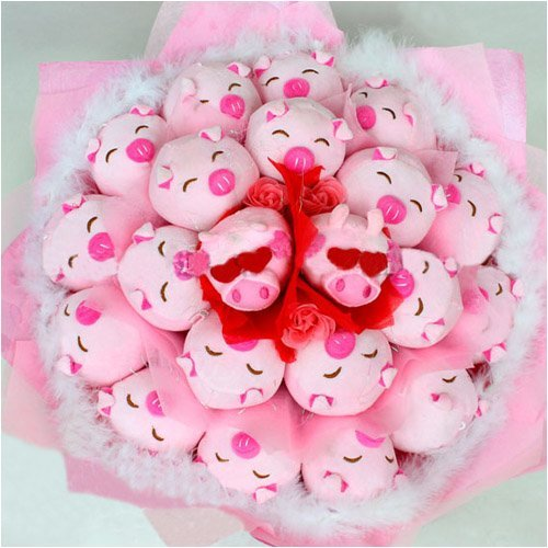 Forever Love Flower Bouquet of Dolls, 21 Cool