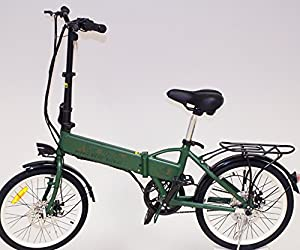 Electric Folding Motor Bike With 250w, Maximum Speed 25km/h And Wheels 20''x 1,75cm (camo Green)