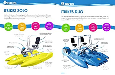 ITBIKE SOLO and DUO. Water Bike for fun on the lake, sea, ocean or river. Aqua rider for outdoor water sports, fitness waterbike.