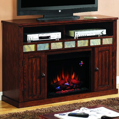 Sedona 52-inch Electric Fireplace Media Console - Caramel Oak - 23mm0925 photo B005T09322.jpg