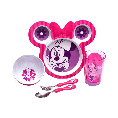 Zak Designs 8-Piece Dinnerware Set, Minnie Mouse front-312232