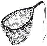 Ed Cumings Fish Saver Landing Net (Black, 14-Inch x 11-Inch Bow x 19 1/2-Inch Overall Length x 12-Inch Depth )