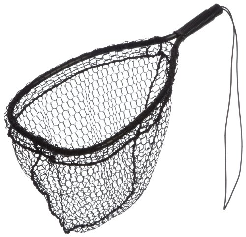 Ed Cumings Fish Saver Landing Net (Black, 14-Inch x 11-Inch Bow x 19 1/2-Inch Overall Length x 12-Inch Depth ) (Trout Fishing Net compare prices)