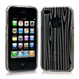 iPhone 4 ケース ソフト TPU ゼブラ模様 透明 液晶保護フィルム USB充電ケーブル付