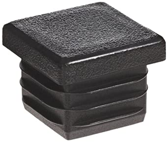 Kapsto 260 Q 2222 1.5 - 2 Polyethylene Square Plug, Black, 22 mm (Pack of 100)
