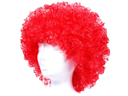 Rote-Clown-Percke-im-Afro-Look