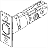 Kwikset 81308-011 Square Corner Adjustable Deadbolt Latch in Satin Nickel