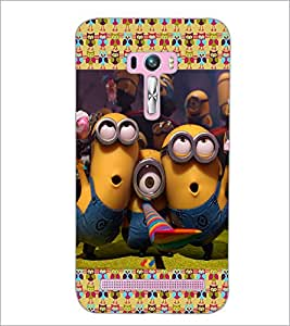 PrintDhaba Minions D-4612 Back Case Cover for ASUS ZENFONE SELFIE ZD551KL (Multi-Coloured)