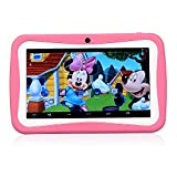 "LeaningTech M755 7"" inch Quad Core Android 4.4 HD Kids Tablet, 8GB, with Dual Camera, WiFi, Kid Desktop and Games, HD Kids Edition w, Pink video review"