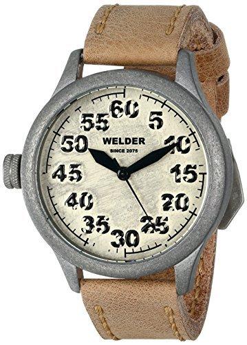 時計 Welder ウェルダー Unisex 501 Analog Display Quartz Brown Watch メンズ 男性用 [並行輸入品]