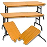 Set of 3 Brown Breakable Tables for WWE Jakks Mattel Wrestling Action Figures