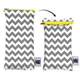 Planet Wise Wipe Pouch, Gray Chevron
