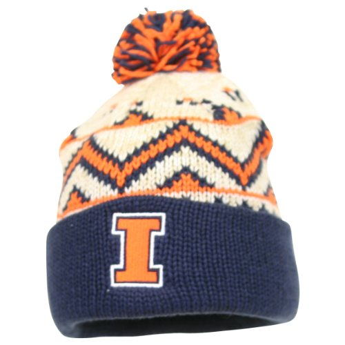 Adidas NCAA Pom Top Cuffed Winter Ski Knit Hat - Illinois Illini at Amazon.com