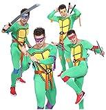 Mens Mutant Ninja Turtles Donatello Michelangelo Leonardo Raphael Fancy Costume L