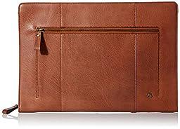 Visconti Hanz Buffalo A4 Leather Zip Around Document Holder Folio Case, Tan, One Size