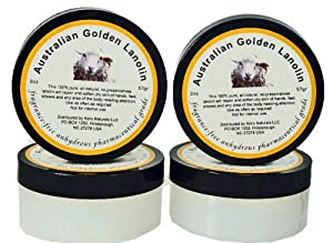 Pure Lanolin Pharmaceutical Grade - Set of Four 2 oz Pots