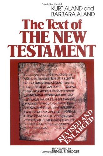 Text of the New Testament, Kurt Aland, Barbara Aland